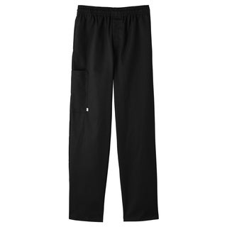 5 Star Zipper Front Pull On Chef Pant