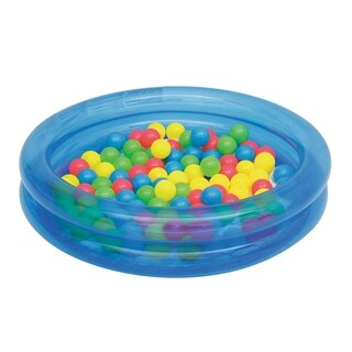 Up, In and Over 36 Inch x 8 Inch 2-Ring Ball Pit, Blue