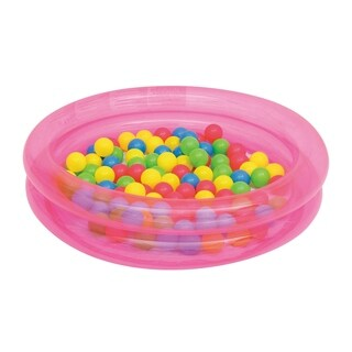 Up, In and Over 36 Inch x 8 Inch 2-Ring Ball Pit, Pink