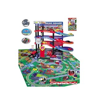 Lucky Toys Parking Lot with Playmat Set, 47 Pieces