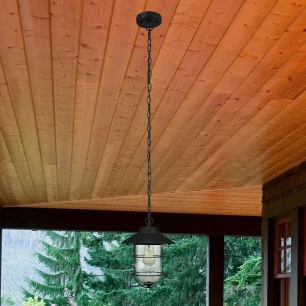 Havenside Home Mallon Matte Black Outdoor Indoor Pendant