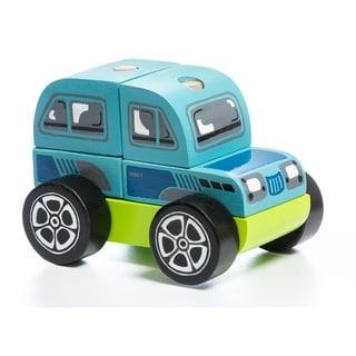 Link to Levenya Building Blocks Wood Blue Car Similar Items in Building Blocks & Sets