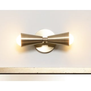 Carson Carrington Toftir 10-inch Antique Brass 2-light Sconce