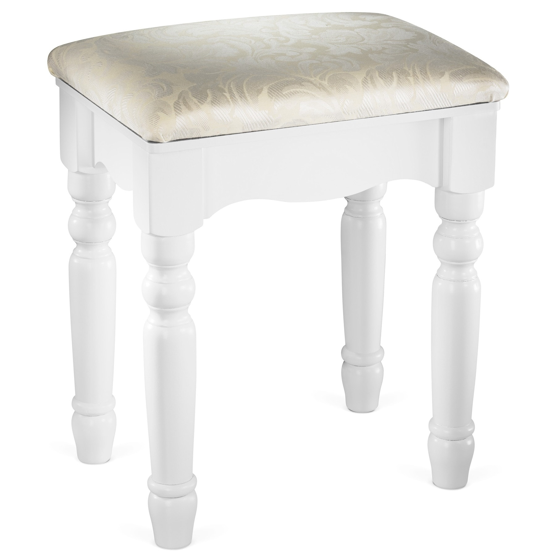 Fineboard Luxury Vanity Stool Makeup Dressing Stool Pad Cushioned Chair for  Vanity Tables and Bedroom Sets