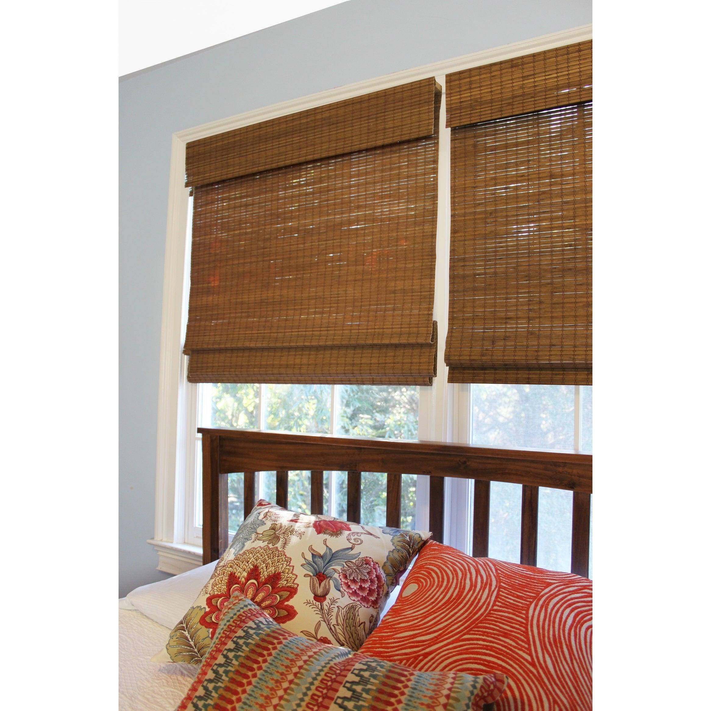 Radiance Cordless Maple Cape Cod Flatweave Bamboo Roman Shade On Sale Overstock 24313630