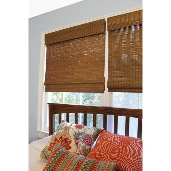 Radiance Cordless Maple Cape Cod Flatweave Bamboo Roman Shade. Opens flyout.