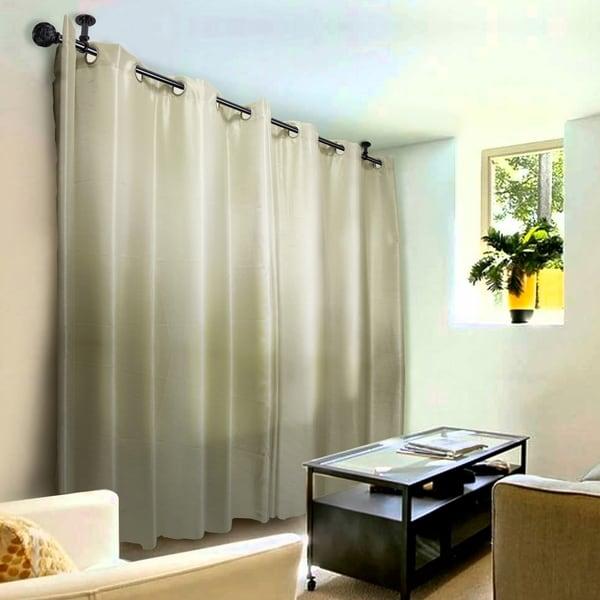 Instyledesign Winona 1 Inch Diameter Ceiling Curtain Rod Room Divider