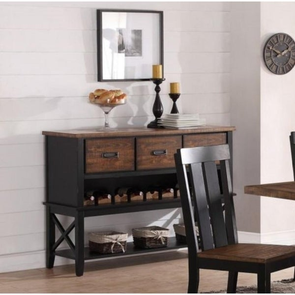 Ramona Dark Brown Wood Finish Server