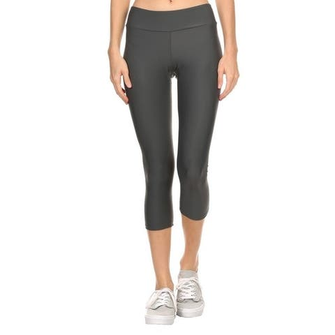 Solid Gray Women'S Acitve Capri Leggings