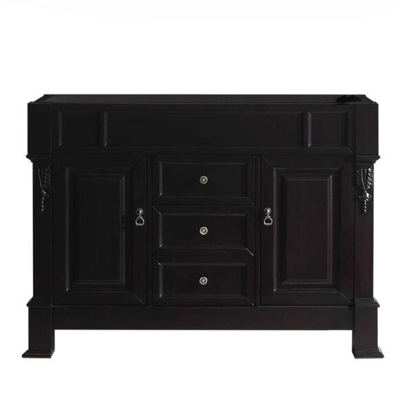 """Huntshire 48"""" Single Bathroom Vanity Cabinet in Dark Walnut"""