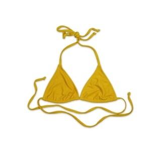 Tie Back Minimal Triangle Top - Yellow Rib