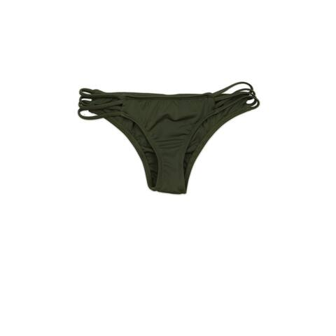 Olive Strappy Criss-Cross Cheeky Bottom
