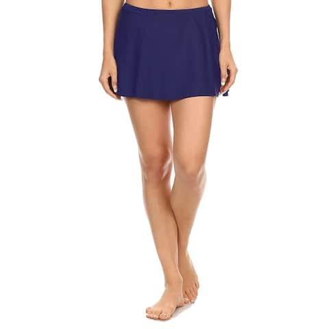 Solid Navy Skirt Swimsuit Bottom
