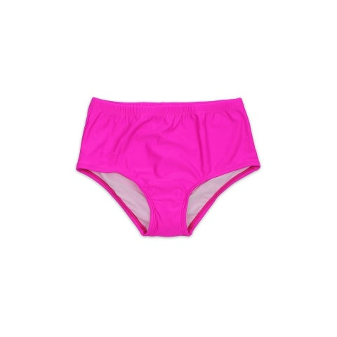 Plus Size Fuchsia High Waist Lined Bottom