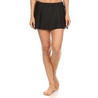 Solid Black Skirt Swimsuit Bottom