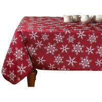Violet Linen Decorative Christmas Snowflakes Design Tablecloths