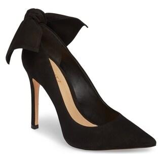 SCHUTZ Blasiana Black Suede High Heel Stiletto Dress Pointed Toe Bow Pumps