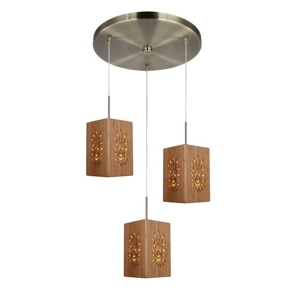 Woodbridge Lighting 14024cbrwl W Light House 3 Radiance Bamboo Mini Pendant Cer