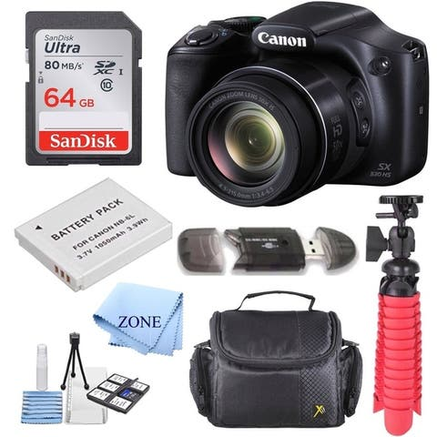 Canon PowerShot SX530 HS 16.0 MP 50x Optical Zoom Digital Camera Accessory Bundle