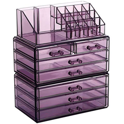 Makeup Organizer Jewelry Storage Case 3 Pieces Set