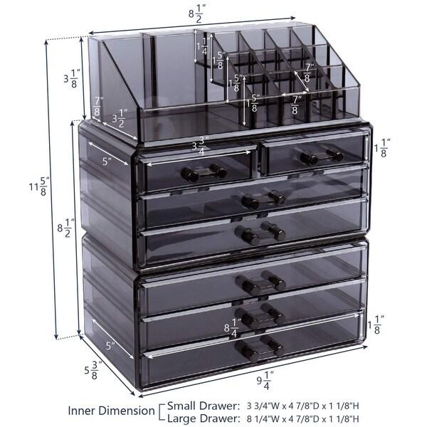 Makeup Organizer Jewelry Storage Case 3 Pieces Set