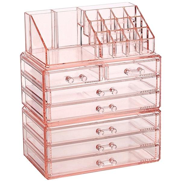 Makeup Organizer Jewelry Storage Case 3 Pieces Set. Opens flyout.