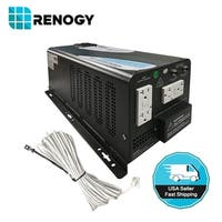 Renogy 2000W 12V Battery Inverter Charger DC AC Power Converter Pure Sine Wave - Black