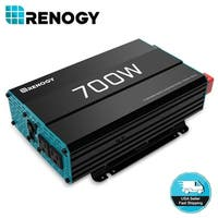 Renogy 700W 12V Pure Sine Wave Inverter 700 Watt 12 Volt Battery Power Converter - Black