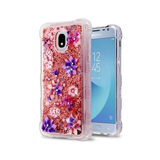 Insten Tuff Quicksand Glitter Stargazers Hybrid PC/TPU Rubber Case Cover for Samsung Galaxy Express Prime 3/J3 (2018)/J3 Achieve