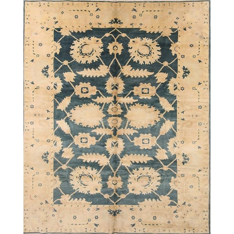 "Oushak Agra Egypt Hand Made Oriental Wool Area Rug For Living Room - 10'11"" x 8'5"""