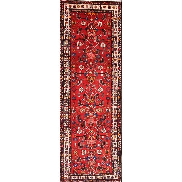 Hamadan Persian Handmade Geometric Rug Runner 14 Ft Long For Entryway 13 X27