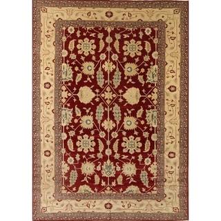 "Traditional Agra Pakistani Classical Oriental Handmade Area Rug - 13'7"" x 9'8"""