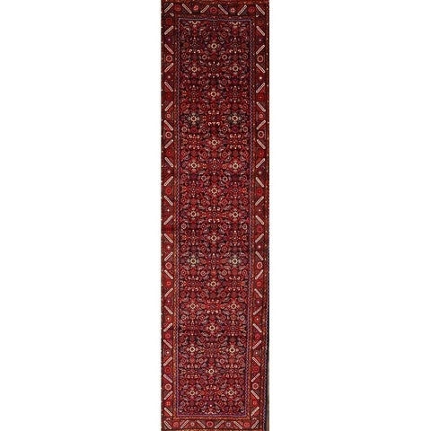 """The Curated Nomad Lynch Handmade Persian Wool Geometric Heirloom Item Area Rug - 14'2"""" x 3'8"""" runner"""
