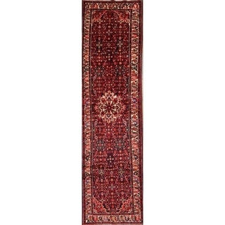 "The Curated Nomad Nwosu Handmade Wool Geometric Persian Heirloom Item Area Rug - 14'1"" x 3'10"" runner"