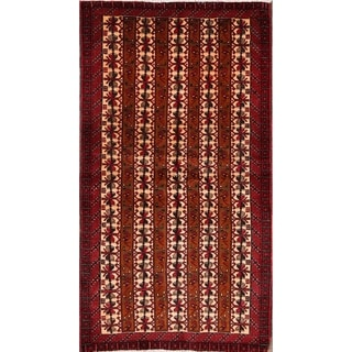 "Balouch Persian Wool Handmade Oriental Traditional Area Rug Vintage - 6'7"" x 3'5"""