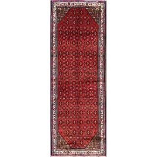 "The Curated Nomad Liu Persian Geometric Wool Heirloom Item Area Rug - 9'5"" x 3'4"" runner"