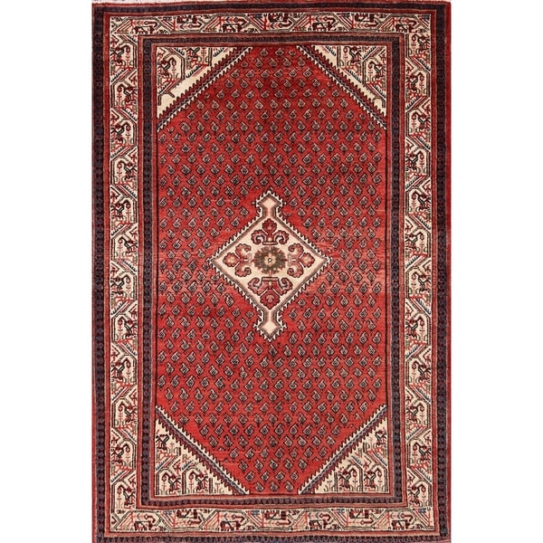 """Botemir Boteh Hand Knotted Wool Oriental Persian Area Rug - 6'7"""" x 4'4"""""""