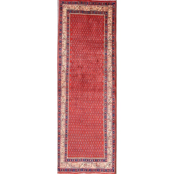 """Classical Traditional Botemir Boteh Persian Hand Made Rug - 9'8"""" x 3'4"""" runner"""