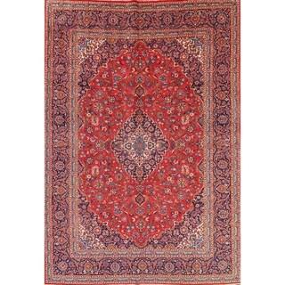 """Vintage Kashan Persian Handmade Wool Medallion Livingroom Area Rug - 13'5"""" x 9'5"""""""
