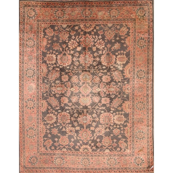 Shop Oushak Floral Tufted Wool Persian Oriental Area Rug: Shop Vintage Oushak Turkish Hand Knotted Wool Floral
