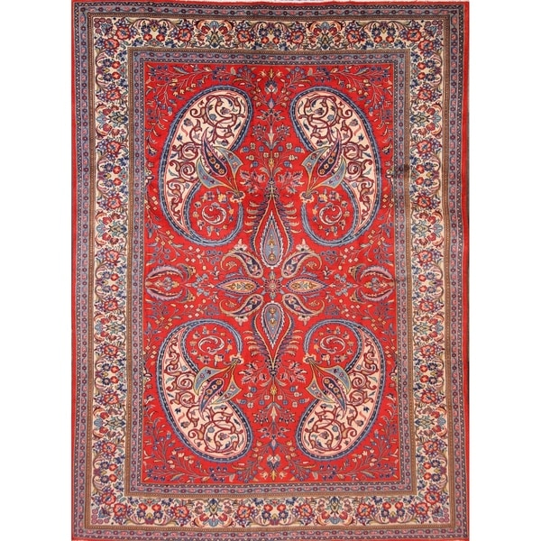 Shop Sarouk Hand Knotted Wool Persian Vintage Floral