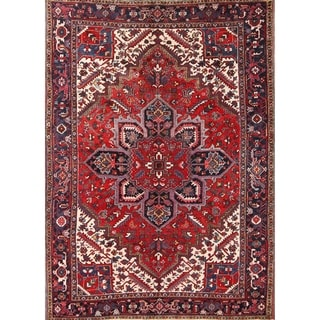 "Heriz Wool Persian Hand Made Wool Oriental Area Rug Vintage - 9'6"" x 6'9"""