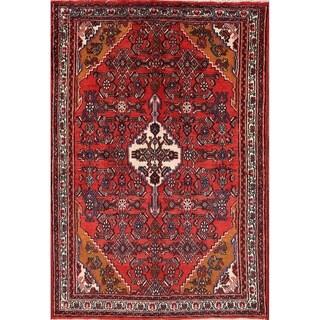 """Bibikabad Traditional Hamadan Persian Handmade Wool Floral Area Rug - 6'5"""" x 4'4"""""""