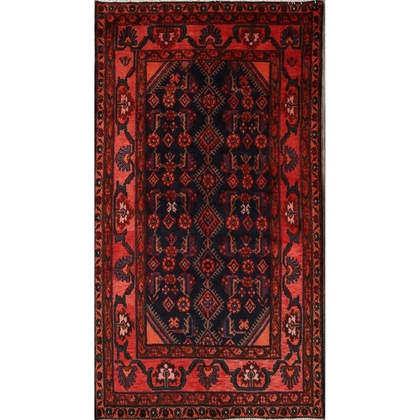 "Nahavand Hamadan hand knotted Persian Oriental Foyer Area Rug - 7'5"" x 4'0"""