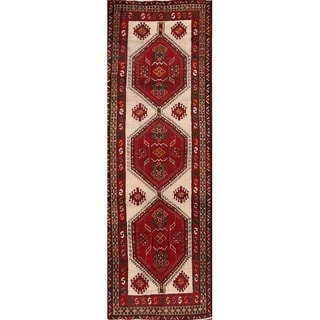 "The Curated Nomad Dosanjh Vintage Persian Hand-knotted Heirloom Item Area Rug - 10'4"" x 3'5"" runner"