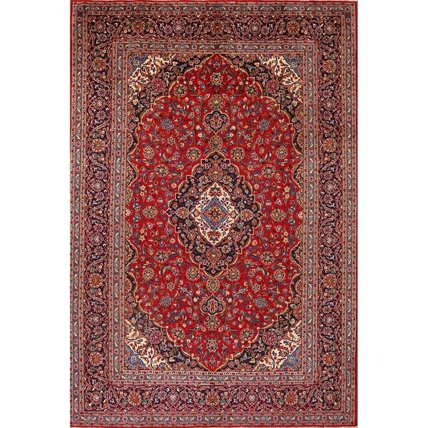Hand Knotted Persian Kashan Wool Area Rug Ebth: Shop Vintage Kashan Hand Knotted Wool Persian Medallion