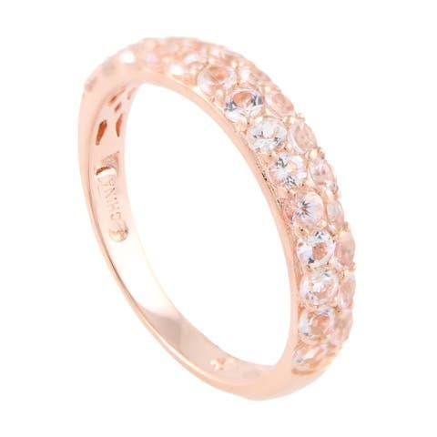 Sterling Silver Morganite Stack Band Ring