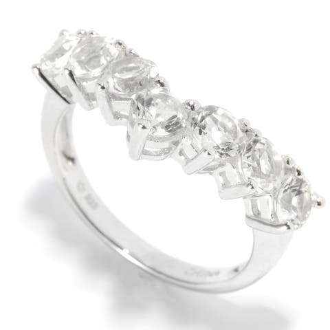 Sterling Silver White Topaz Stack Ring