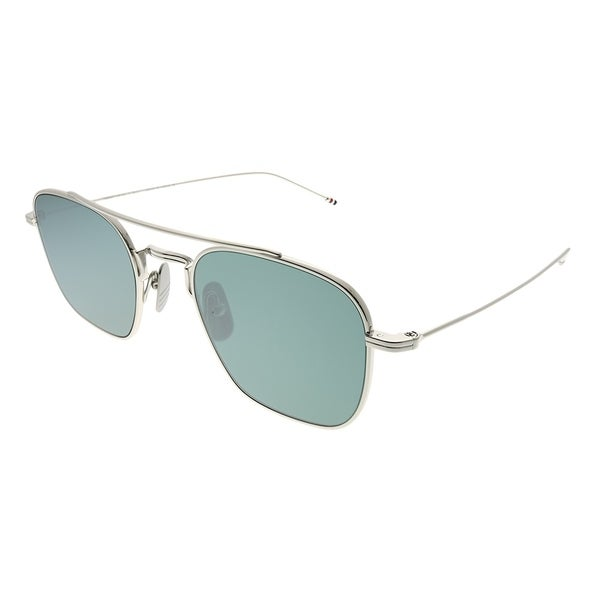 14d9d2ab6a6e Shop Thom Browne Square TBS907 50-02 Unisex Silver Frame Silver Flash  Mirror AR Lens Sunglasses - Free Shipping Today - Overstock - 24320670