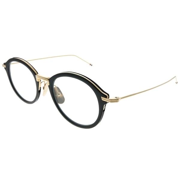 17d9f1d38ba Thom Browne Round TBX908 49-01 Unisex Black White Gold Frame Eyeglasses